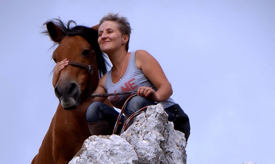 Kristina, one of your riding guides in Albania