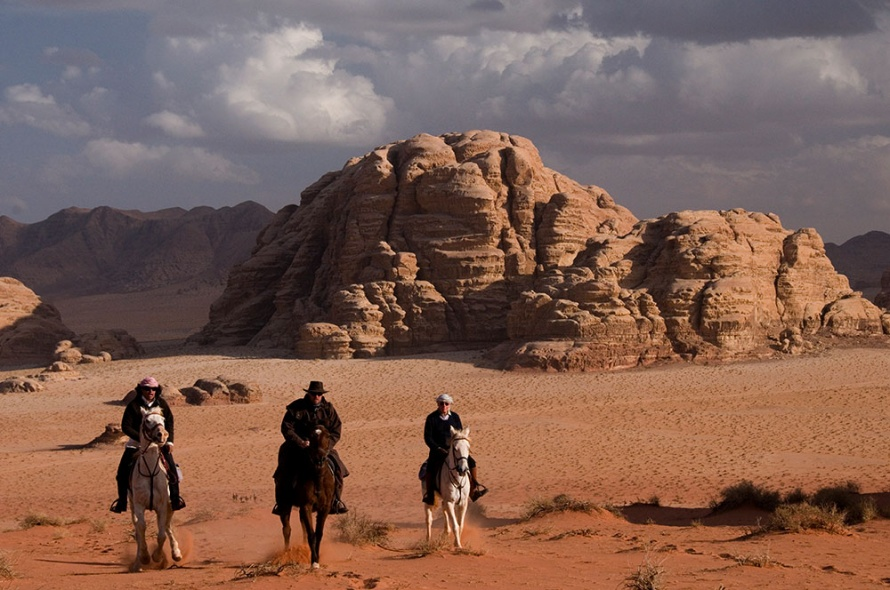 Riding Arabian horses in the red and ochre sands of the Wadi Rum @WorldwideHoofprints