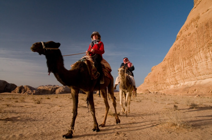 Riding camels in the Wadi Rum @WorldwideHoofprints