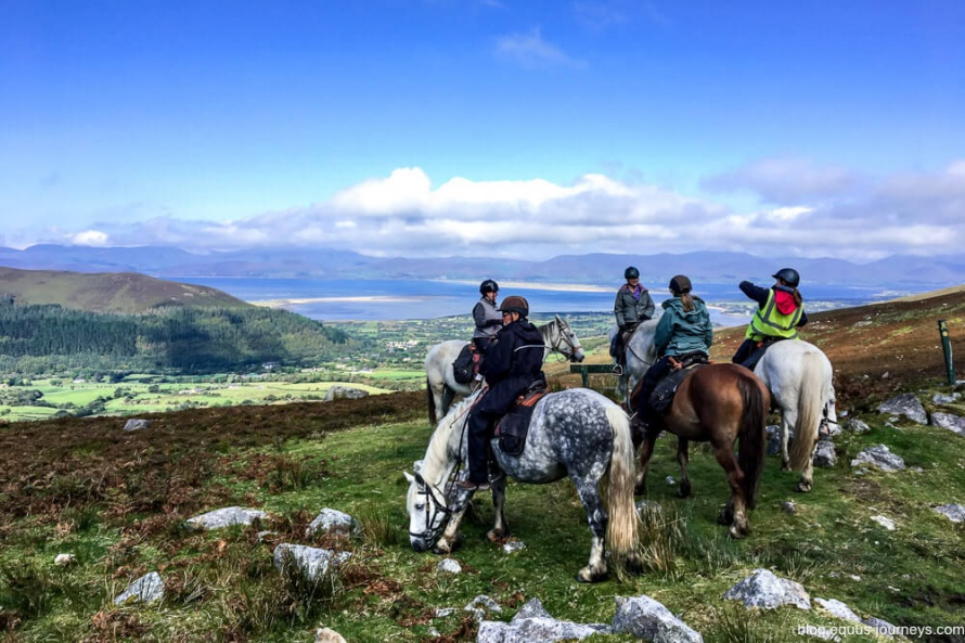 Trail riding along the Ring of Kerry, Ireland