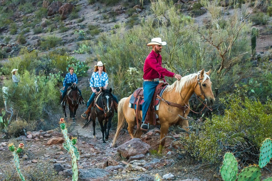 Trail rides at White Stallion Ranch  @WorldwideHoofprints
